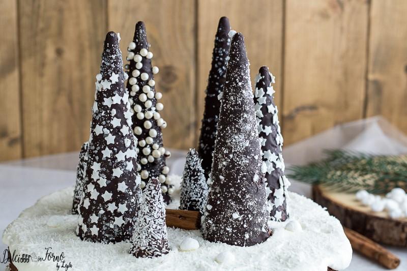 Albero Di Natale Con Dolci.Alberi Di Cioccolato Innevati Di Natale Tutorial Passo Passo
