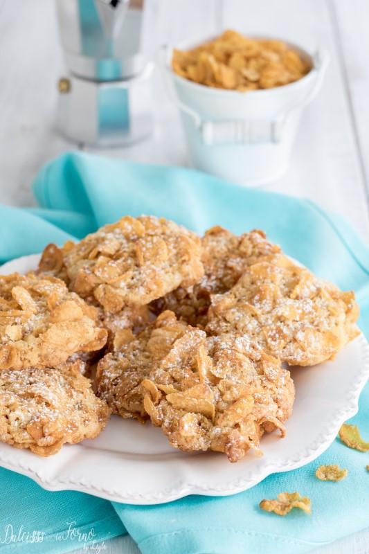 Biscottini Rose del deserto, ricetta biscotti con corn flakes