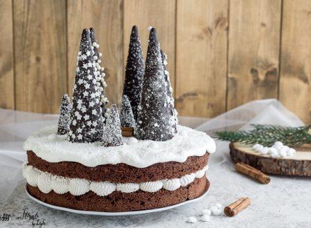 Torta di Natale semplice con alberelli