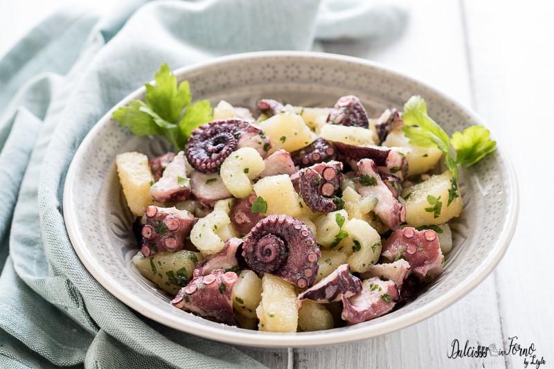 Insalata di polpo e patate lesse, ricetta antipasto - polpo in insalata