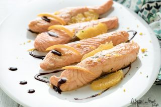 Filetto di salmone all'arancia
