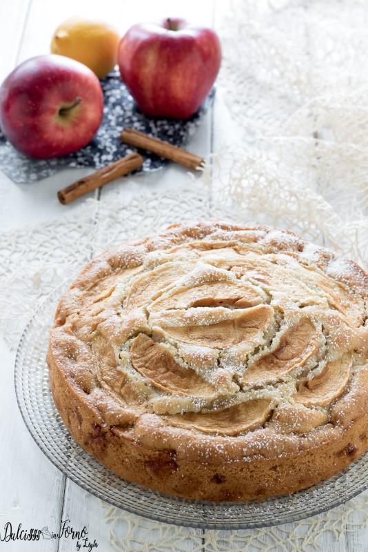 Torta di mele vegetariana la torta di mele senza uova e latte