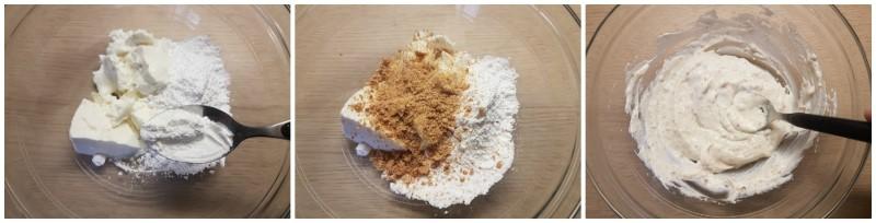 Girelle di pasta sfoglia dolci con ricotta: la crema di ricotta