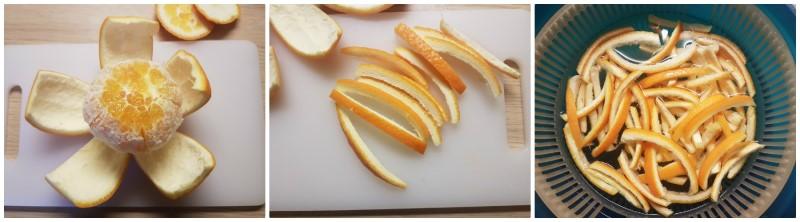 Scorze d'arancia candite: la macerazione