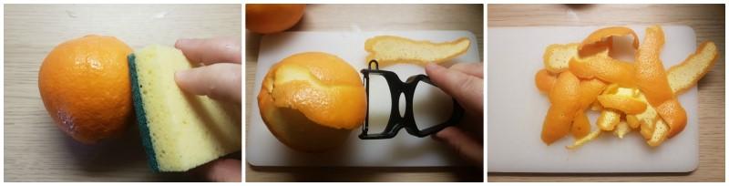 Liquore all'arancia: le scorze di arance