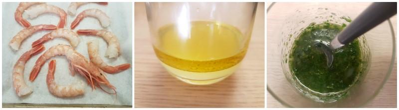 Gamberoni al forno: la salsa con olio limone e prezzemolo