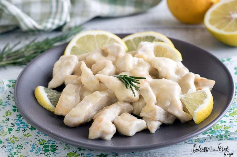 Petti di pollo al limone - Straccetti o bocconcini di petto di pollo al limone