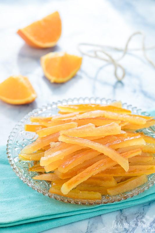 Scorze d'arancia candite e canditi ricetta