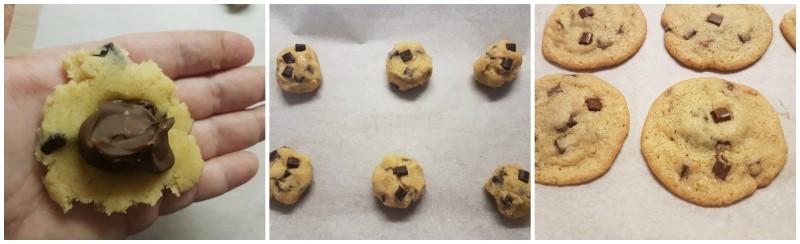 Cookies alla Nutella: formazione dei biscotti