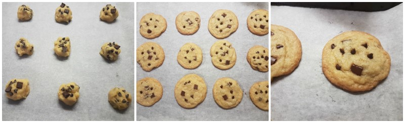 Biscotti cookies: la cottura