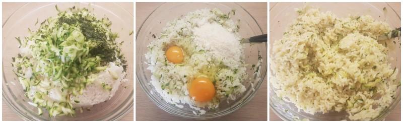 Sformato di riso al forno: l'impasto della torta di riso salata