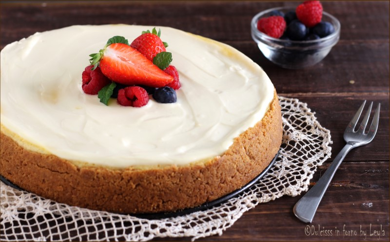 New York Cheesecake con frutta fresca