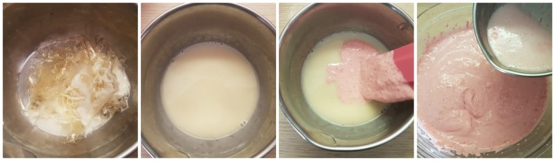 Cheesecake philadelphia e fragole: la gelatina