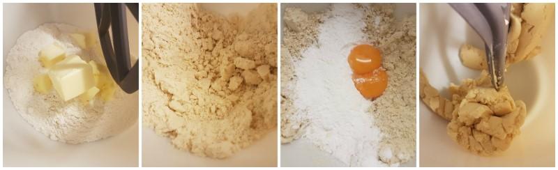 La pasta biscotto della cream tart (sablè)
