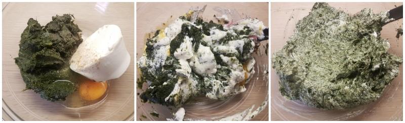 Il ripieno di ricotta e spinaci per i paccheri ripieni