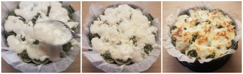 Paccheri ripieni di ricotta e spinaci: la cottura