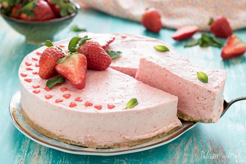 Cheesecake fredda alle fragole - cheesecake alla fragola