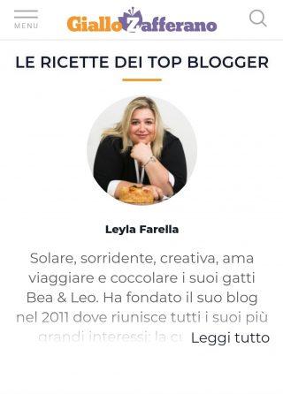 Leyla Farella Giallozafferano Top Blogger