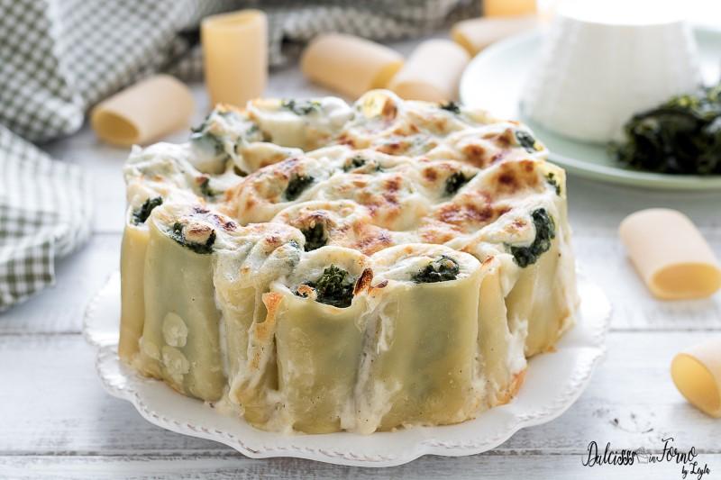 Paccheri ripieni di ricotta e spinaci: paccheri ripieni al forno