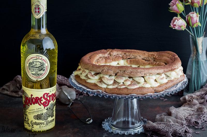Torta bigne - ciambella di pasta choux al tiramisu