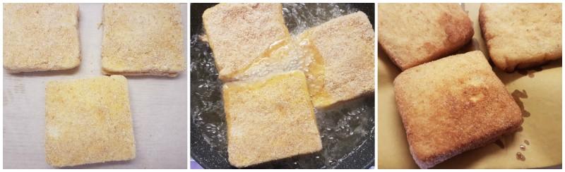 Mozzarella in carrozza ricetta originale: la cottura