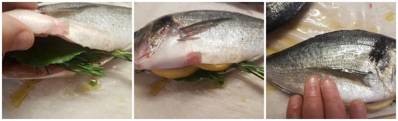 Preparazione pesce alla griglia