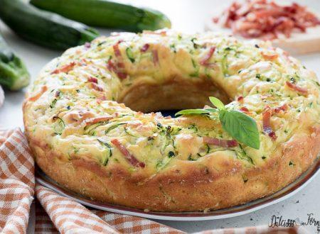 Ciambella salata veloce con zucchine