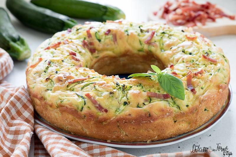 Ricetta Ciambella salata veloce con zucchine, morbida e ...