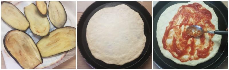 Preparazione della pizza parmigiana