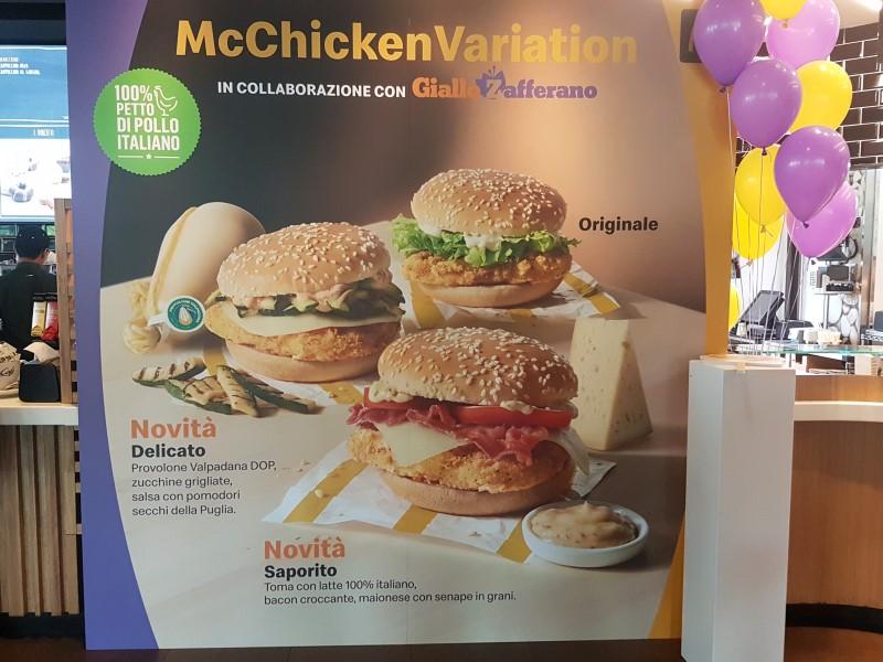 Panini McDonald's: il lancio delle McChicken Variation in collaborazione con GialloZafferano