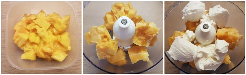 Mango congelato per il gelato light