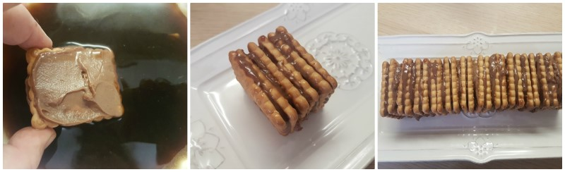 Creazione della torta di biscotti secchi