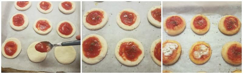Farcitura delle pizzette fatte in casa