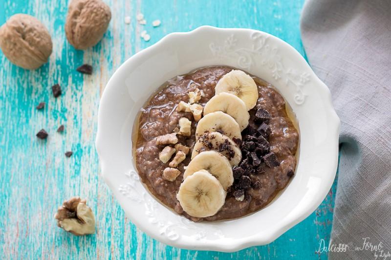 Porridge avena e cioccolato