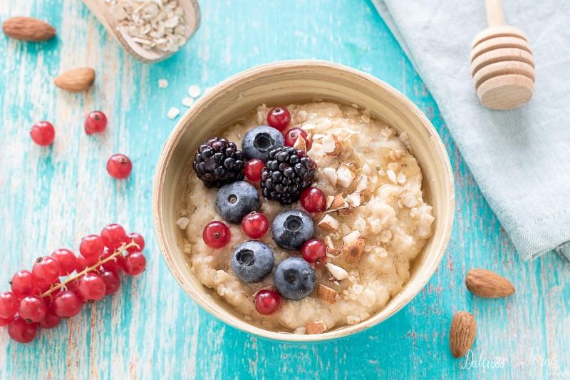 Porridge ricetta con fiocchi di avena