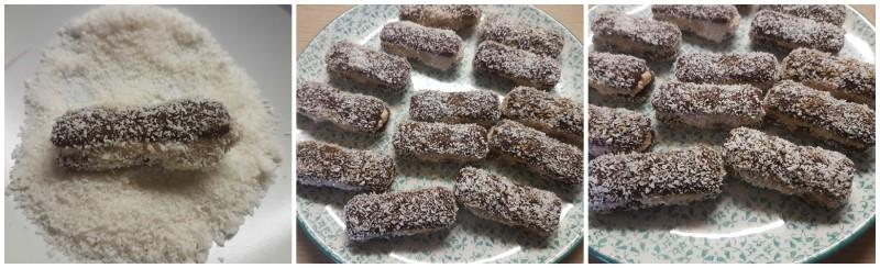 Decorazione dei Pavesini mascarpone nutella e cocco