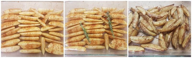 Cottura delle patate a spicchi - Patate al forno con buccia