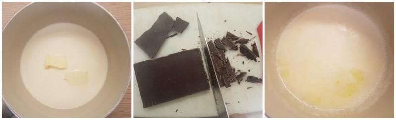 Preparazione crema al cioccolato - Muffin Halloween