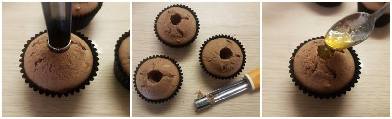 Farcitura con marmellata - Muffin Halloween