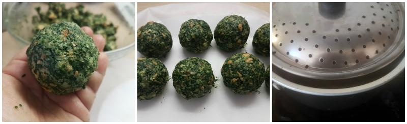 Preparazione dei Canederli agli spinaci