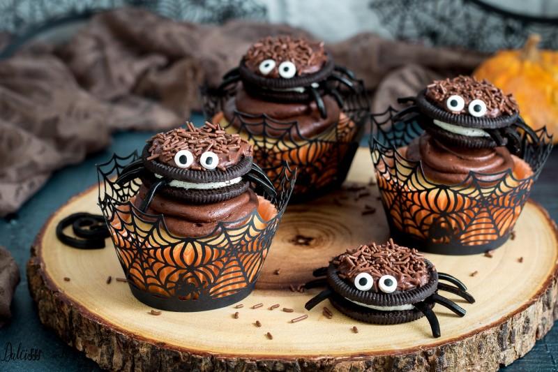 Ricetta Cupcake Halloween con ragnetto Hallloween - dolci per Halloween
