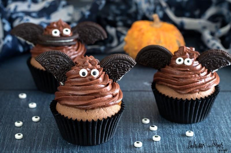 Muffin Halloween - dolcetti Halloween pipistrello