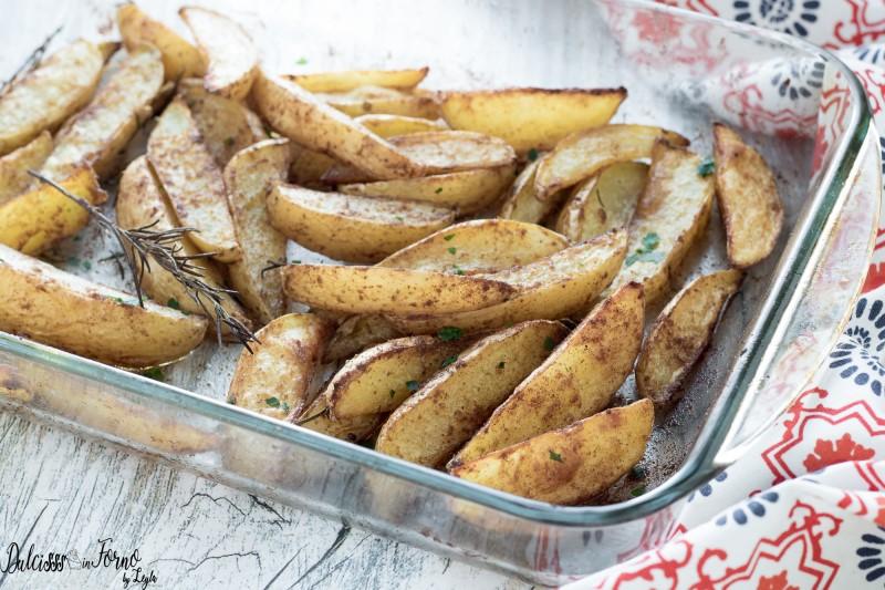 Patatine al forno con la buccia