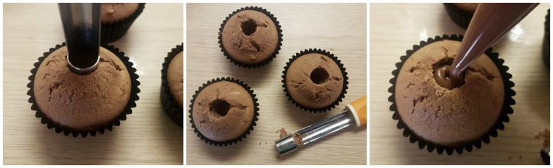 Muffin con cuore di Nutella: la farcitura