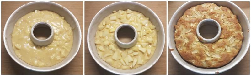 Cottura della Ciambella alle mele