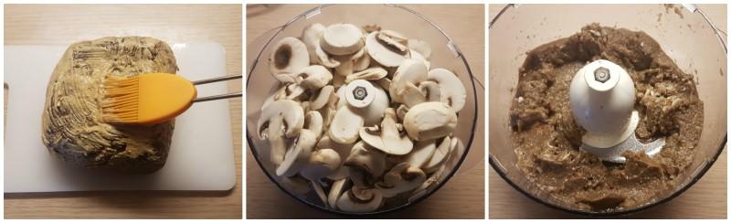 Preparazione dei funghi - Filetto alla Wellington