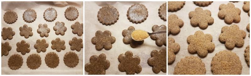 Cottura dei biscotti di grano saraceno