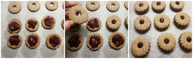 Farcitura dei biscotti di grano saraceno e marmellata