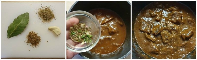 Aggiunta degli aromi- Gulash ricetta