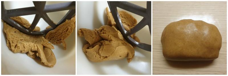 Impasto dei biscotti con farina integrale pronto
